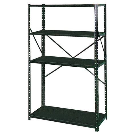 shop arrow brown galvanized steel storage shed shelf at
