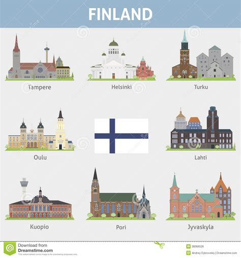 design management finland finland symbols of cities royalty free stock image