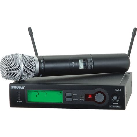 Microphone Wireless Shure Slx 282 shure slx series wireless microphone system l4 638 slx24
