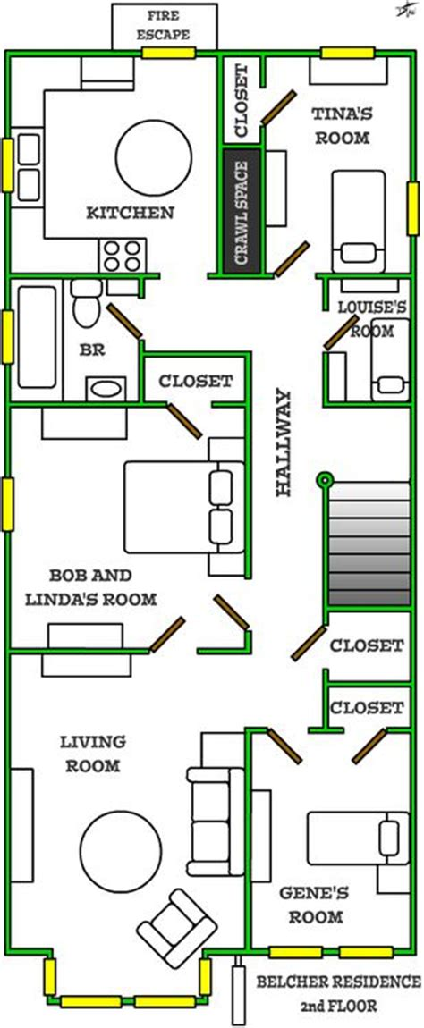Layout Of Belcher Apartment | bob s burgers apartment google search to make