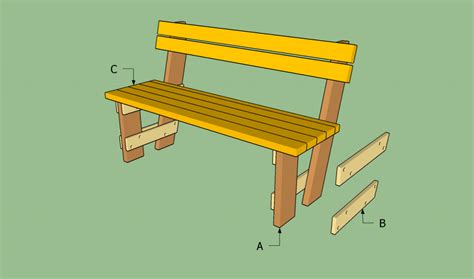 easy bench design free garden bench plans howtospecialist how to build step