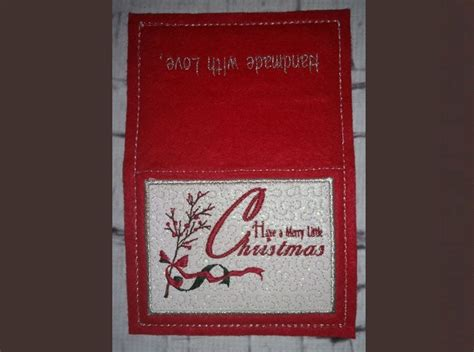 merry  christmas greeting card   hoop machine embroidery pattern
