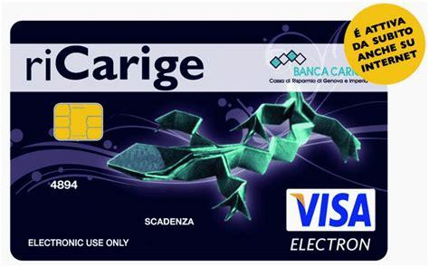 www carige on line carige on line italia si chiama ricarige la carta