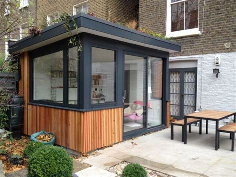 Small Home Extension Ideas Larch Cladding Green Roofs And Extensions On