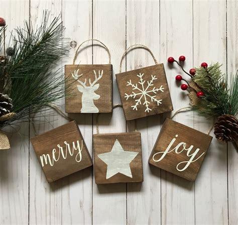 rustic christmas ornaments ideas  pinterest