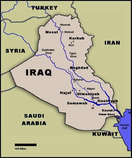 rivers in iraq map bible events the iraqi battlefield