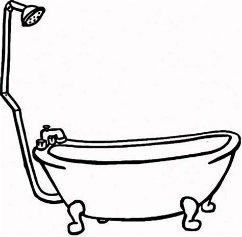 coloring page bathtub how to draw bathtub for bath coloring pages bulk color