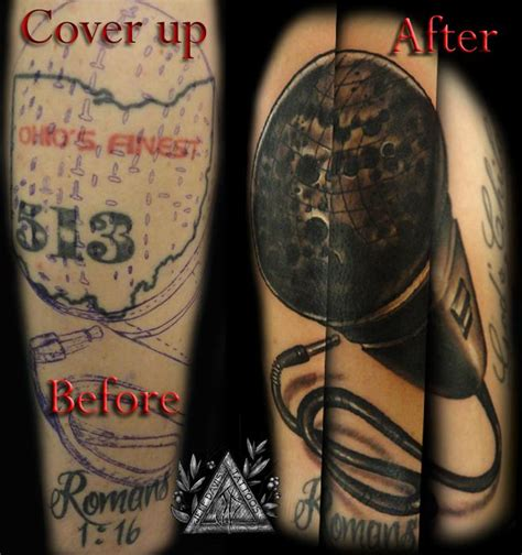 microphone tattoo cover up microphone cover up by jeff davis sr tattoonow