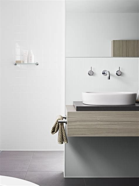 wall  shower panelling laminex aquapanel polar white large tile basin wall laminex aquapanel polar white ripple ba idea  interior