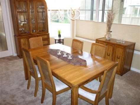 dining room set with 6 chairs china cabinet and curio oak dining room set china cabinet table with 2 leafs