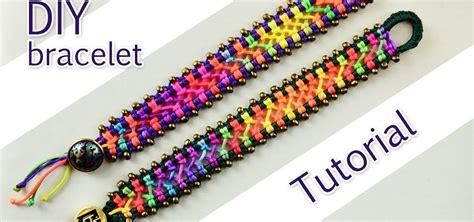 How To Do Macrame Bracelet - how to make a easy macrame criss cross bracelet 171 jewelry