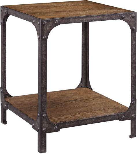 wood and metal end table irwin wood and metal end table from pulaski coleman