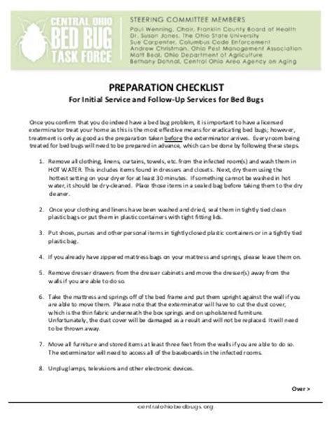 bed bug checklist bed bug checklist 28 images sonic repellent reviews