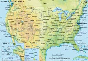 map for america buy us physical map in green color