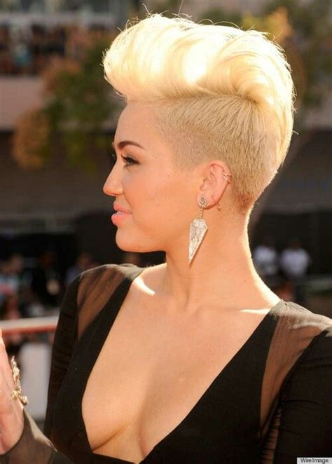 1000 images about new hair on pinterest miley cyrus making a pompadour out of long bangs long pixie cut