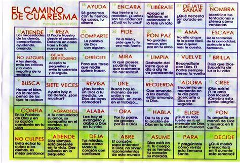 Calendario De Cuaresma Caminando En Cuaresma Vocacion
