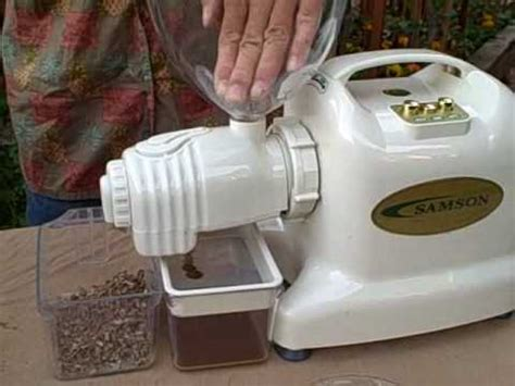 electric samson juicer with press extractor attachment