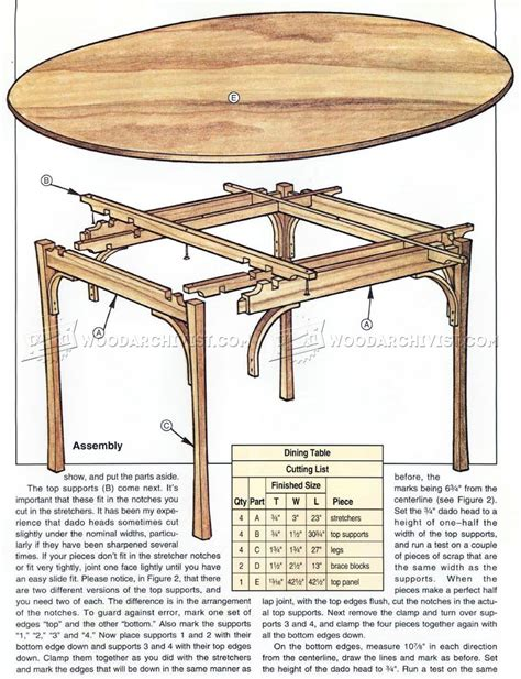 Dining Table Blueprints Simple Dining Table Plans Woodarchivist