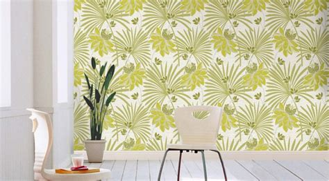 green wallpaper for feature wall crown tropicana wallpaper green and white