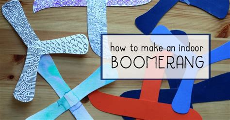 How Do You Make A Boomerang Out Of Paper - how to make an indoor boomerang