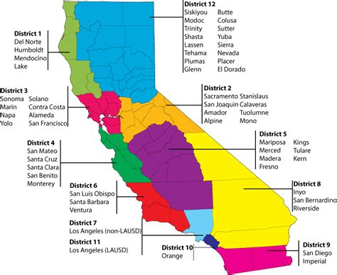 school district map best school districts in california map