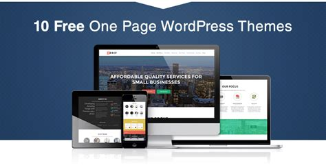 theme with page templates 30 best free one page themes in 2016