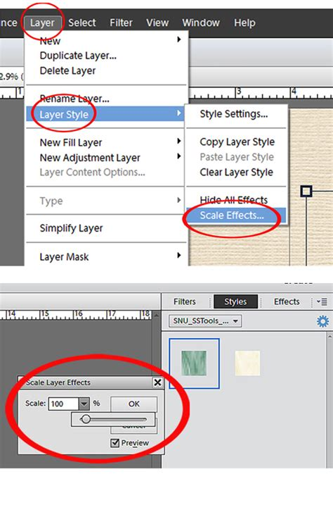 Pattern Photoshop Size | adjusting the pattern size of styles in photoshop elements