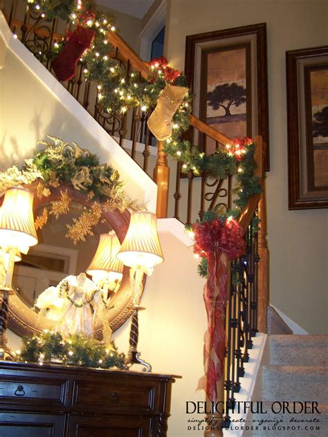 christmas deco work on pinterest christmas staircase