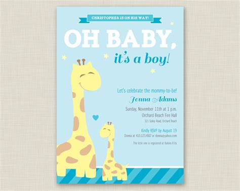 Baby Shower Templates For Boy by Baby Shower Invitations For Boys Free Templates