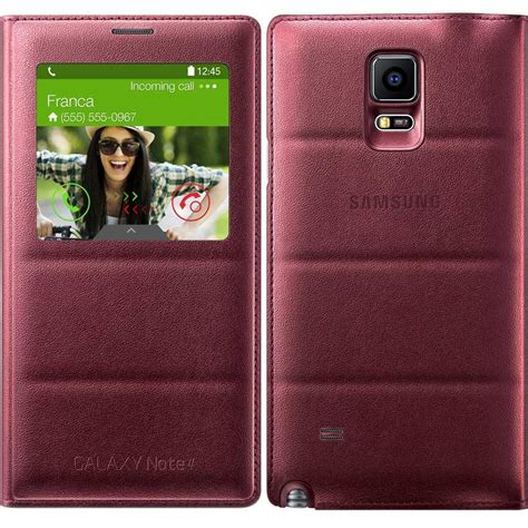 Sview Note5 samsung galaxy note 4 s view flip cover plum