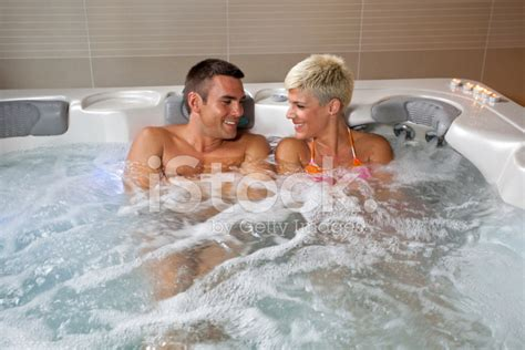 hot tub swinging young man and woman in jacuzzi stock photos freeimages com
