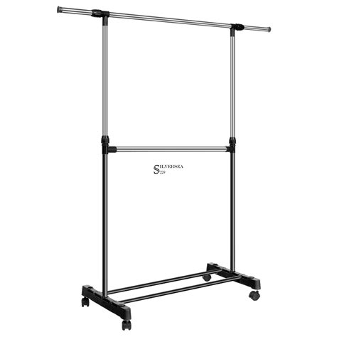 Portable Hanger Rack by New Adjustable Rolling Garment Rack Portable Clothes