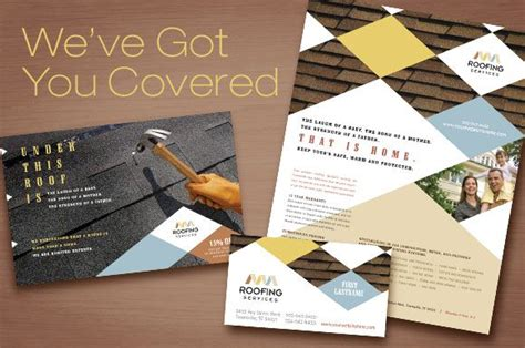 Roofing Contractor Marketing Materials Brochure Flyer Ads And Postcard Templates לוגו Marketing Material Templates