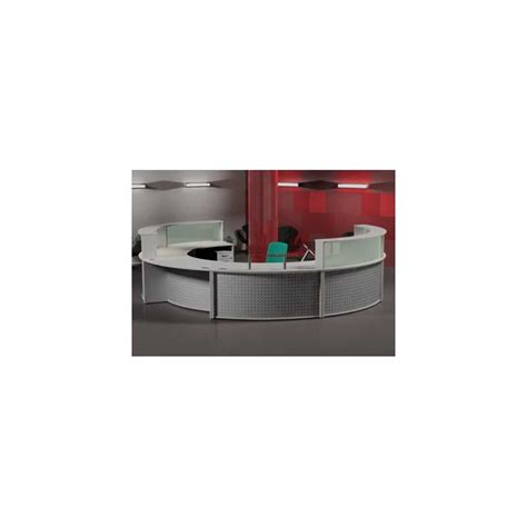 frosted bar top 90 degree linking reception unit with frosted acrylic