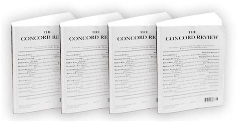 Concord Review Essays by Academic Publisher S Triumphant Return To Print Thanks To Print On Demand Technology The