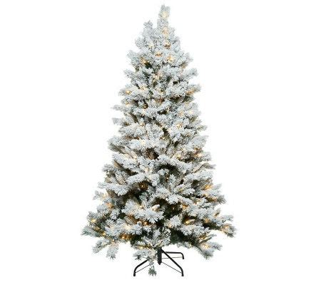 santa s best 7 5 flocked sherwood spruce christmas tree w