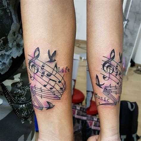 50 admirable music tattoos for men and women 2018