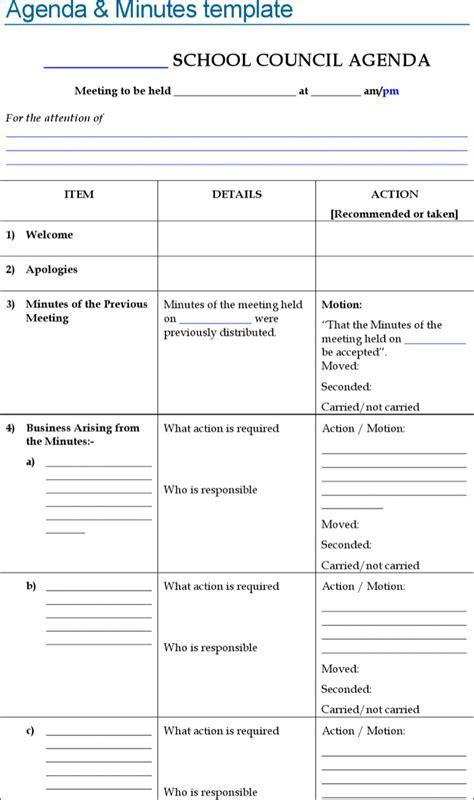blank meeting agenda templates download free amp premium