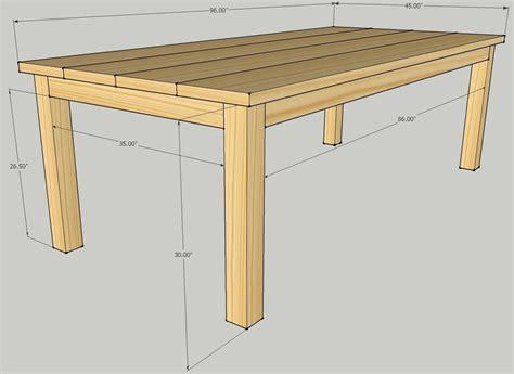 build a simple table build patio dining table plans diy plans simple gun