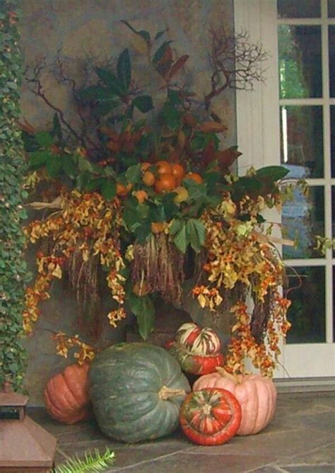 images  fall outdoor decorations  pinterest