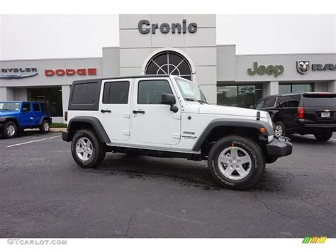 jeep sahara 2016 white 2016 bright white jeep wrangler unlimited sport 4x4