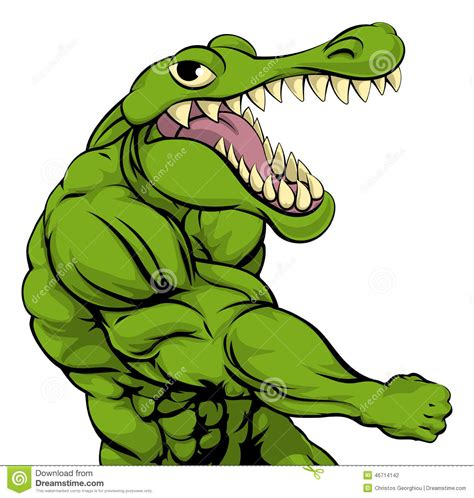 imagenes de vector the crocodile alligator or crocodile mascot punching stock vector