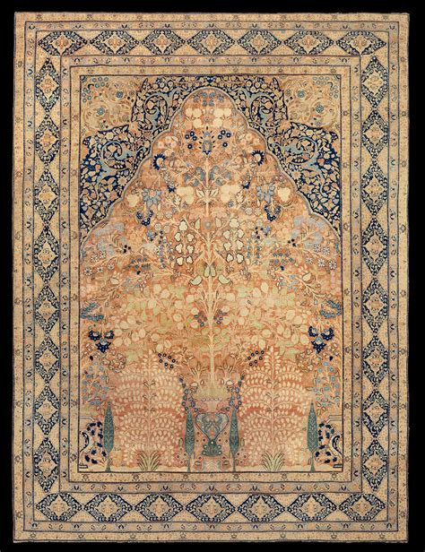 Antique Tabriz Rug by Antique Tabriz Hadji Jalili Rug With The Garden