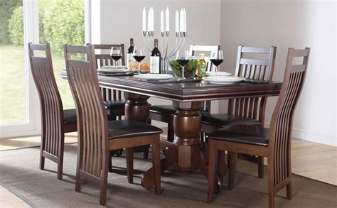 chatsworth java extending wood dining table 4 6