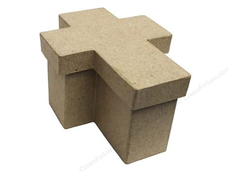 Craft Paper Mache Boxes - paper mache cross box 4 1 2 in by craft pedlars