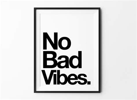 Home Detox For Bad Vibes by No Bad Vibes Motivational Poster Home Decor Quote Posters