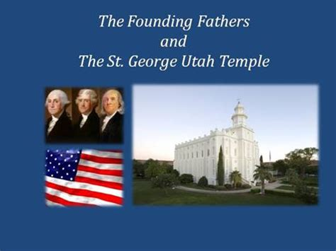 the founding fathers and st george temp authorstream