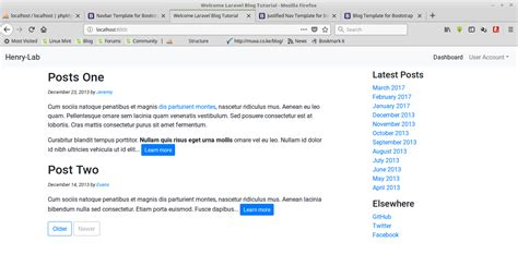 tutorial blog laravel 5 lesson 5 post migration and user account in our blog