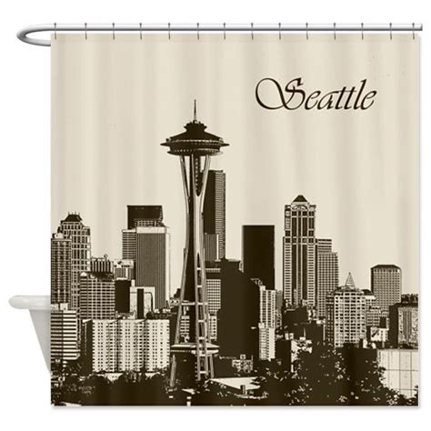 seattle curtain 18 best images about skyline shower curtain on pinterest
