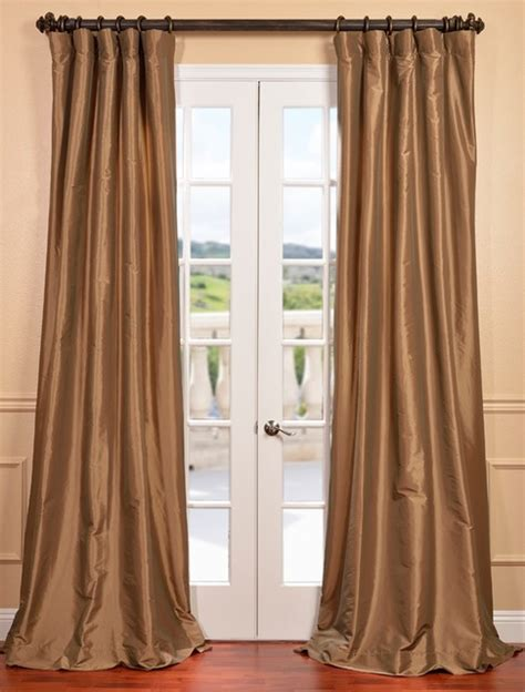faux taffeta curtains gold nugget faux silk taffeta curtain contemporary
